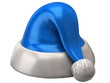 Santa Claus blue hat