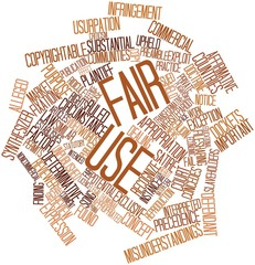 Word cloud for Fair use