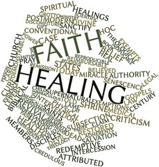 Word cloud for Faith healing
