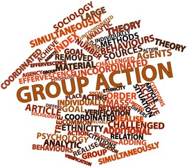 Word cloud for Group action