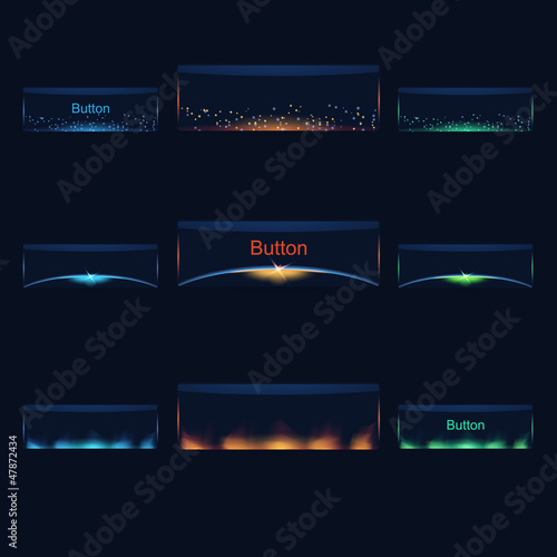 Vector Colourful Space Buttons