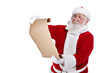 Santa with scroll paper