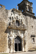 The facade of San Jose mission church, San Antonio, Texas, USA