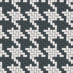 Pied de coq : réunion de 4 modules de 4 motifs.