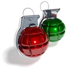 Weihnachtskugel Handgranate Bombe