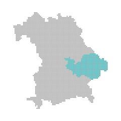 Niederbayern  - Serie: Pixelkarte Bayerische Bezirke