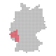 Rheinland-Pfalz - Serie: Pixelkarte Bundesländer