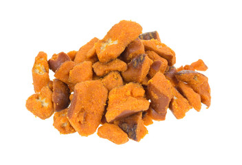Spicy pretzel pieces