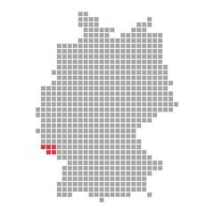 Saarland - Serie: Pixelkarte Bundesländer