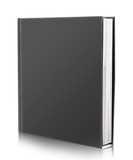 blank book cover on white