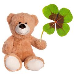 Teddy mit Glücksklee
