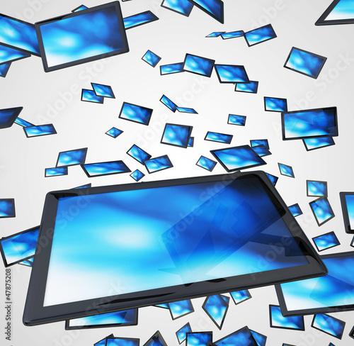 Fliegende Tablets - Schwarz Blau