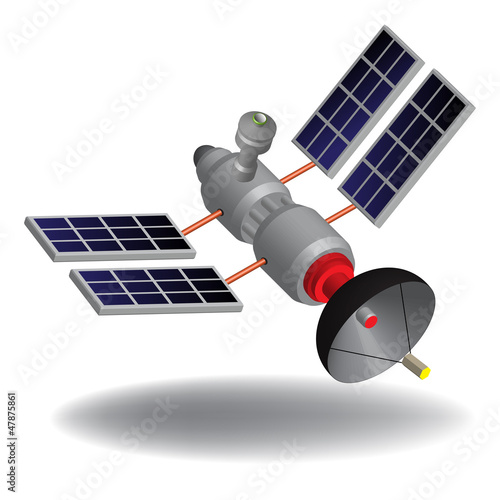 High tech satellite