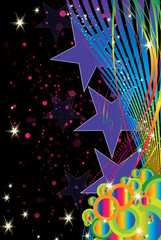 étoiles multicolors