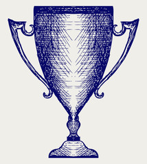 Award trophies. Doodle style