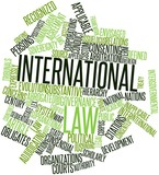 Word cloud for International law