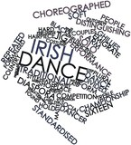 Word cloud for Irish dance