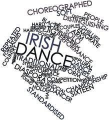 Word cloud for Irish dance