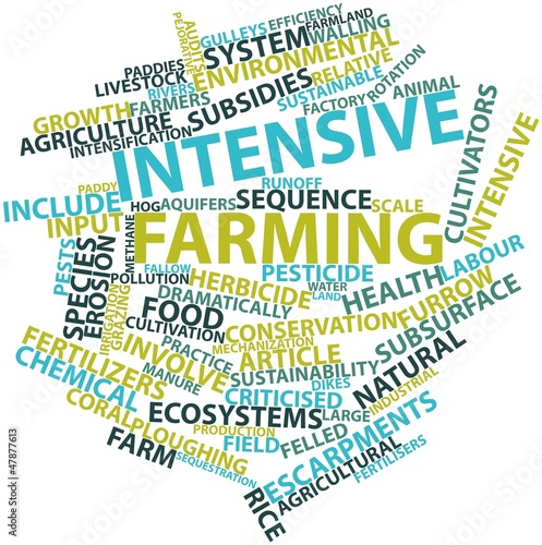 Word cloud for Intensive farming