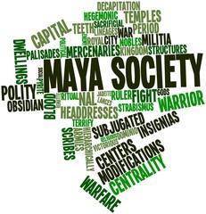 Word cloud for Maya society