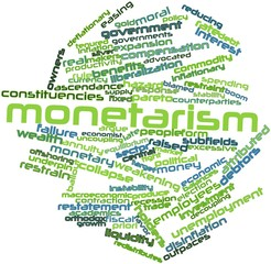 Word cloud for Monetarism
