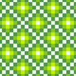 Seamless lime green square pattern background in vector