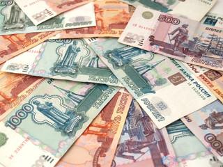 Фон из российских бумажных денег