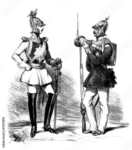 Prussian Uniforms - middle 19th century