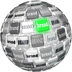 Many Brands One Unqiue Best Brand Sphere Top Choice
