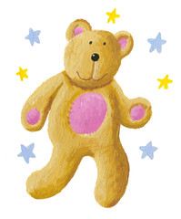 Cute teddy bear with stars