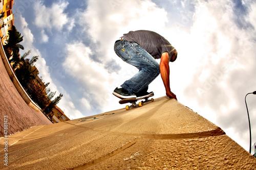 hdr skateboard Poster