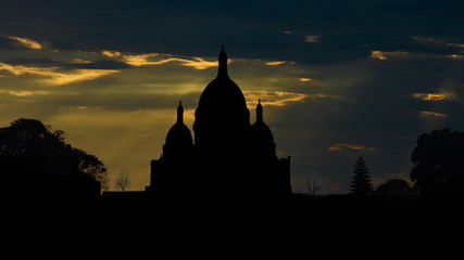 France Sacre Coeur sunbeams