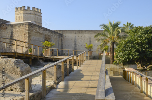 Medieval tower, Alcazar de Jerez (Spain)