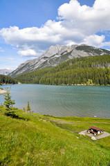 Two Jack lake, Rocky Mountains (Canada)
