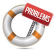 Problems Help Concept.