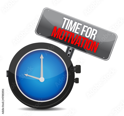 Time for Motivation concept
