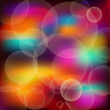 Bright lights bokeh. Vector illustration.