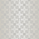 Seamless silver small floral elements wallpaper pattern