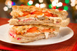 Traditional Italian chicken cutlet  panini sandwich