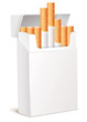 Cigarette pack 3d. Isolated on white background