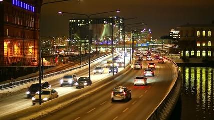 Transportation traffic in Stockholm, Sweden