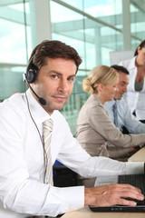 telesales worker