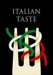 Italian taste cover black