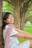 Asian women at the park
