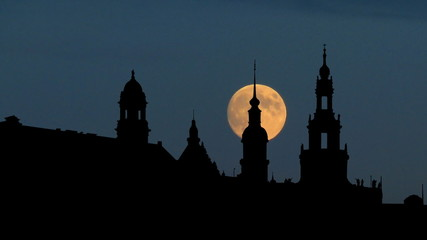 Germany Hamburg east moonrise