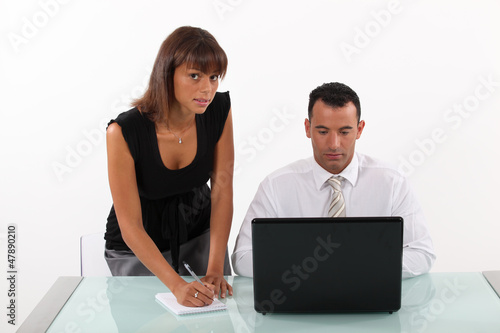 business duo at work