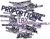 Word cloud for Proportional tax