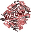 Word cloud for Sketch comedy