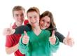 Drei Jugendliche mit Daumen hoch