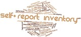 Word cloud for Self-report inventory